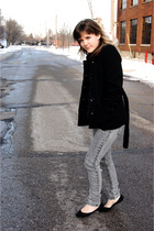 black H&M coat - black Urban Outfitters shoes - gray Forever 21 jeans - black Ga