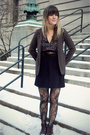 Brown-urban-outfitters-blazer-black-cosette-dress-black-modcloth-tights-br