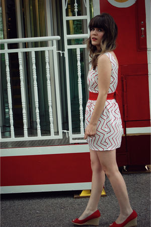 red moda via DSW shoes - white modcloth dress