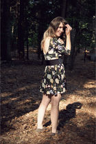 black modcloth dress - beige Target shoes - black Urban Outfitters belt - silver