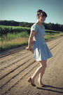 Blue-bleubird-vintage-dress-brown-urban-outfitters-shoes-pink-urban-outfitte