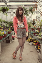 heather gray modcloth shorts - tawny Blowfish Shoes heels - coral lee & birch ca