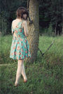 Blue-urban-outfitters-dress-pink-dsw-warehouse-shoes