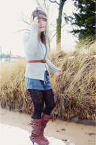 gray Old Navy sweater - brown Target boots - black Gap tights