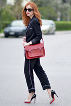 Zara blazer - Cambridge Satchel Company bag - emporio armani sunglasses