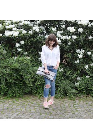 H&M blouse - H&M jeans - Monki bag - Adidas sneakers