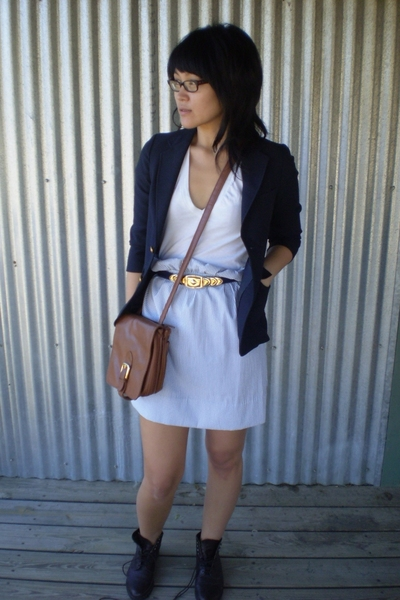 blazer - skirt - accessories - shoes