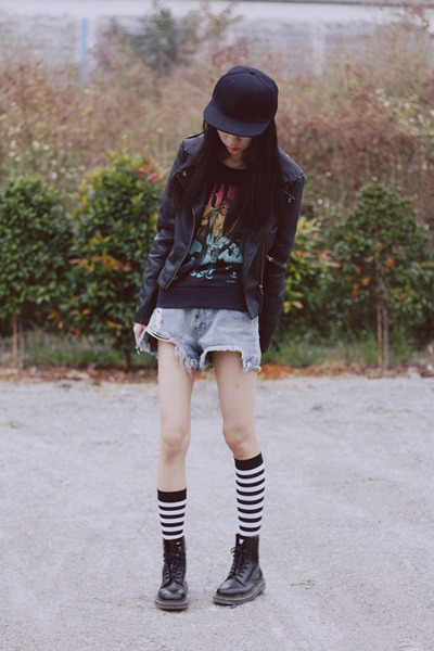 Dr Martens boots - jacket - H&M sweater