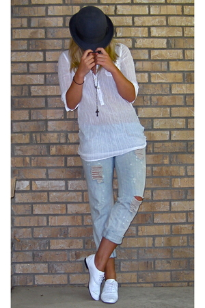 banana republic shirt - Forever21 jeans - Repetto shoes