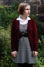 Black-h-m-dress-red-h-m-cardigan-white-vintage-black-h-m-belt-black-stev