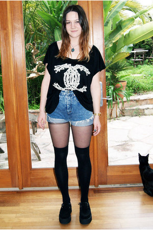 UNIF t-shirt - creepers TUK shoes - thrifted shorts