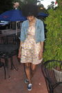 Blue-thrifted-jacket-pink-zac-posen-for-target-brocade-dress-blue-keds-shoes