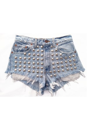 light blue Omen eye shorts