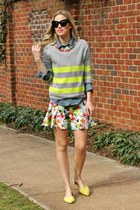 neon Gap sweater - drop waist Prabal Gurung for Target dress