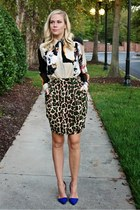 print 31 Phillip Lim blouse - leopard print The Limited skirt