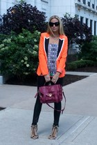 lulus blazer - leather asos leggings - ps1 PROENZA SCHOULER bag