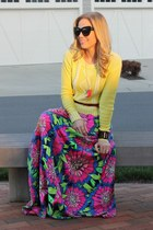 floral Lilly Pulitzer skirt - cableknit Target sweater