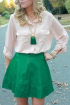 utility Old Navy skirt - leather Lulus skirt - pendant the cheeky bean necklace