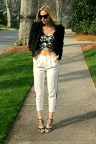 petal fancy friday coat - crop Target top - tuxedo Forever 21 pants