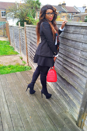 asos bag - Anne Michelle boots - H&M blazer - Philsophy Blues Original shirt