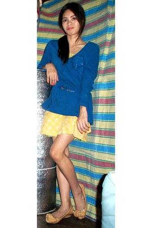royal blue Old Navy top - stars sport skirt