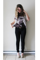 off white james dean t Forever 21 shirt - black black pants Joe Fresh pants