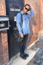 tan patch shirt H&M Trend shirt