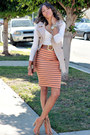 Orange-navy-stripes-zara-skirt-vintage-gap-purse-camel-asos-heels