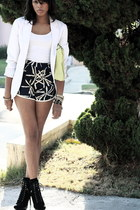 navy silk sariah shorts - black Jessica Simpson boots