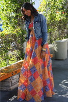 burnt orange vintage dress denise are here dress
