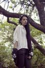 Black-dinsko-shoes-black-sequin-vintage-jacket-white-gina-tricot-blouse