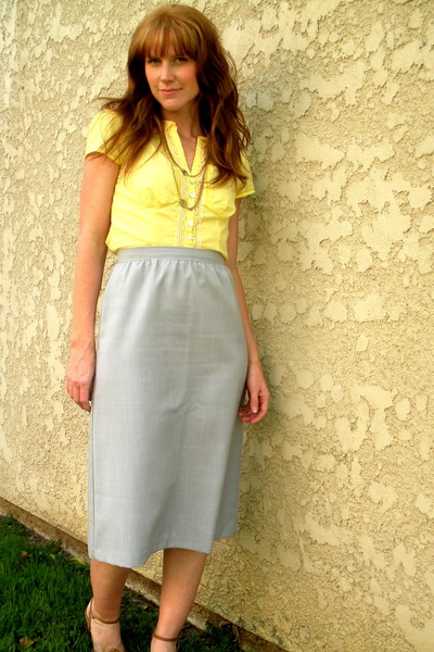 Anthropologie blouse - necklace - skirt - Steve Madden shoes