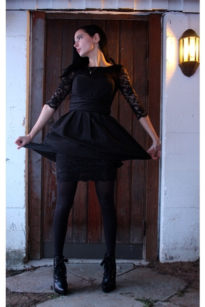 black lace dresses black dresses black tights black