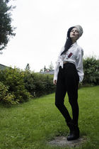 white The White Baron hat - black The White Baron pants - white vintage shirt -