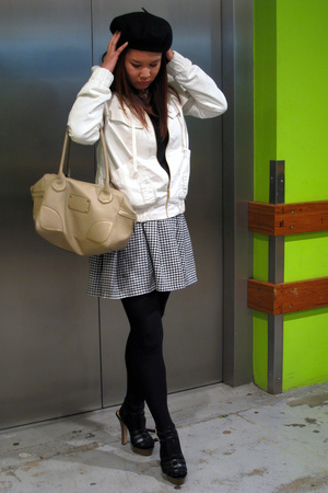 Gorman sweater - FCUK jacket - vintage skirt - Delicious shoes