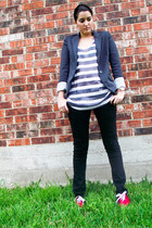 charcoal gray Forever 21 blazer - black Forever 21 pants - heather gray JCrew to
