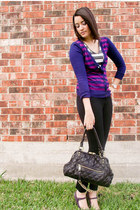 amethyst Steve Madden shoes - black Mossimo pants - deep purple Forever 21 cardi