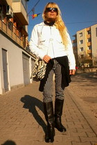 H&M jacket - Palladium boots - Gussaci bag - H&M pants