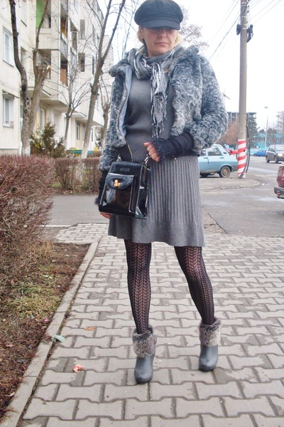 H&amp;M boots - H&amp;M dress - beadonna jacket - Gucci bag