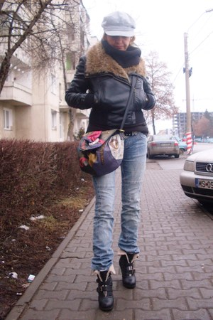 neu look coat - costhart jeans - NAS BAG bag