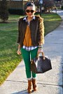 Burnt-orange-steve-madden-boots-dark-brown-urban-outfitters-jacket