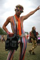 black Beara Beara Mochata Bag bag - Striped Bodysuit bodysuit