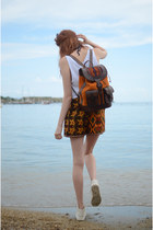 Mochata Leather Backpack Mustard