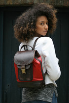 MYA LEATHER BACKPACK RED