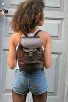 MYA LEATHER BACKPACK BROWN
