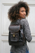 MYA LEATHER BACKPACK BLACK