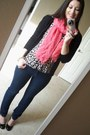 Jeans-scarf-lapis-arty-ysl-ring-blouse