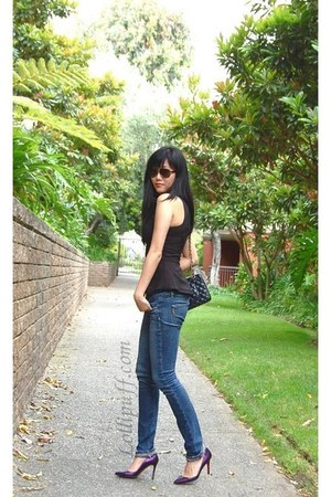 Chanel bag - Paige jeans - Ralph Lauren Sunglasses sunglasses