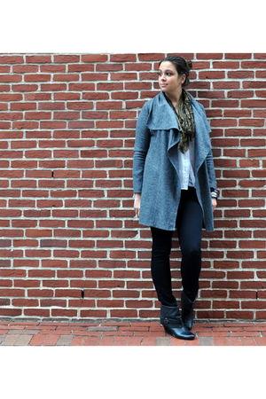 gray Piko 1988 jacket - white madewell blouse - black JBrand jeans