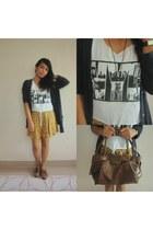 thrifted skirt - DIY top